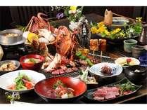 【夕食】伊勢エビ・タラバ蟹の炭火焼に料理長お薦めの逸品も付くスペシャルプラン/一例