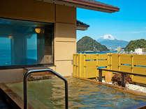 展望露天風呂「富士の湯」からの富士山眺望