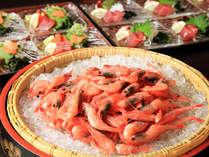 【夕食】海鮮お造り盛りをどうぞ