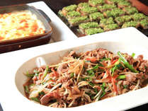【夕食】北海道名物「ジンギスカン」