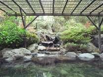 【大浴場】庭園風の岩風呂