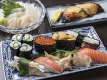 【夕食】大寿しプランメニュー(イメージ)