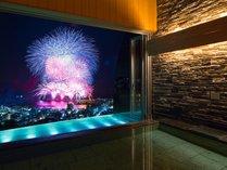 【明星の湯】温泉から見る花火大会