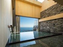 熱海温泉「明星の湯」から望む朝陽