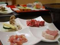 【群馬のお肉3種制覇】上州牛・上州麦豚・上州地鶏のステーキ(肉三昧プランにて提供)