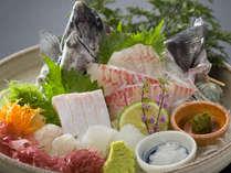 旬の活造りイメージ(2名様より)‐市場での仕入れによってメインの魚が変わる。写真はイシダイ