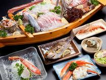 【 夕食 】 朝獲れ海の幸のALL和食膳+超豪華!1mの特大舟盛り。新鮮魚介たっぷりの大満足コース!