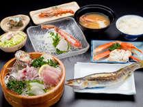 【 夕食 】 朝獲れ海の幸のALL和食膳♪新鮮なお刺身から塩味の効いた焼き魚まで。素材の旨味をご堪能あれ!