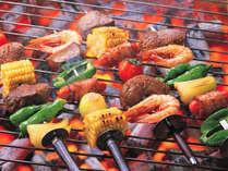 【 夕食 】 大人気のBBQ♪食べて美味しい、囲んで楽しいBBQ。グループにオススメのメニューです!