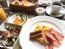 洋食画像:朝食メニュー(アメリカンブレックファースト)