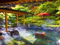 四季折々の風情を身近にお楽しみいただける庭園露天風呂。