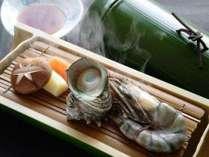 [ジオフード」として紹介された当館オリジナル「源泉蒸し料理」