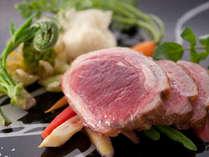 旬を活かした♪彩り鮮やかフレンチのお肉料理(一例)