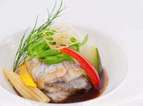 本格プレミアムフレンチお魚料理一例