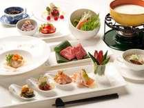 美味しいものをちょこっとずつ、お箸食べるヘルシーフレンチ(イメージ)