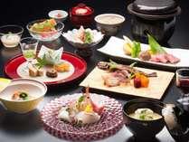 清里の食材を豪華に味わえる「特選贅をつくした和会席コース」 一例