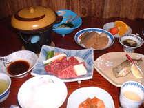 当館一番人気の佐賀産牛プランです。