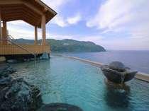 屋上「望洋大露天風呂」柵が無い!!視界270度の大パノラマ♪