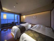 【N】2010年7月NEW OPEN!半露天風呂付客室、都市型ホテルのような洗練された高級感あふれる客室