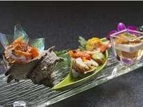 【前肴一例】季節による彩を五感で味わうお料理