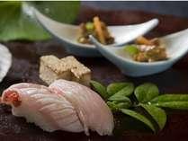 【寿司】金目鯛の炙り寿司はオプション料理(要問合せ)