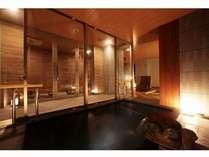 【スィートプライベートスパ】デザインバスタブ、露天風呂2つがそろうプライベートスパ(有料)