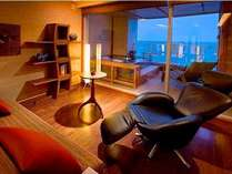 【B】客室専用露天風呂と寝湯露天の2つが備わったハイグレードな客室