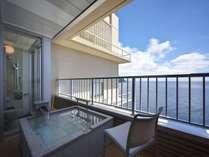 【L】2010年7月オープン、海が一望できる露天風呂付客室、
