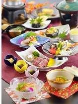 【グレードアップ】旬の味覚を堪能!地産食材を中心にした季節の豪華会席