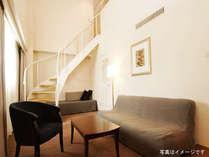 約42平米・2階建てのメゾネットルーム【1階スペース】ご家族や仲間同士などのご利用に最適です