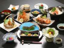 料理「海の幸会席」一例