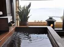客室付露天風呂 三河湾を独り占め