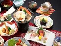 メイン料理選べる♪鮑or海鮮orみかわ牛(夕食一例)