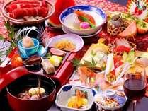 【季節のお料理+ワタリ蟹+伊勢海老:12,800円】旬の味覚が勢ぞろい