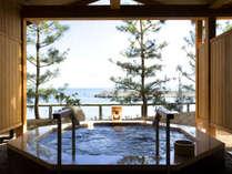 ■ 【くにうみの湯】 ジャグジー風呂も海が目の前!爽快です