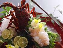 ■ 【記念日】縁起の良い食べ物として古くからお祝い事にはかかせない伊勢海老を姿造りで(別途料金)