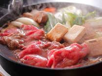 ■ 【淡路牛と松茸のすき焼き】食欲の秋にふさわしい王者の組み合わせ