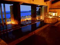 ■【淡路棚田の湯】淡路島の原風景を模した三段湯船が特徴 ※昼夜は男性風呂