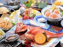 【元祖・金目鯛熱海煮】(金目鯛は2~3名様に1尾)アワビ&コラーゲン入り2色鍋☆花車の膳