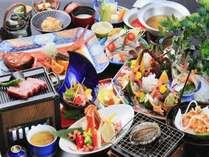 【グレードアップ料理】伊勢海老・カニ・元祖金目鯛熱海煮・アワビorステーキの豪華膳