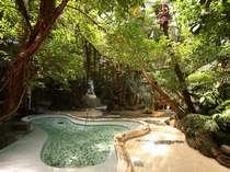 【ジャングル風呂】植物を眺めながら、ゆったりと湯に浸かる。