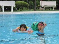 【屋外プール】7月~8月末まで。水着を忘れずにお持ちくださいませ!