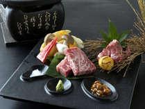 信州産2種類の和牛ステーキを食べ比べ