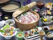 夕食一例/地鶏の鍋会席