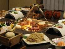 【贅沢!!囲炉裏特選料理プラン】炭火でお肉も焼ける囲炉裏料理の特選プラン♪