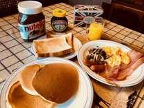 典型的な朝食ですが、ベジタリアン向けもご用意致します。