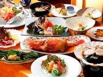 夕食一例。近海で獲れた新鮮な海の幸づくし!北海道を味わおう!