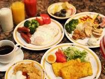 朝食ブッフェは外国のお客様を意識したアメリカンスタイルが中心。和食も豊富にご用意しております。