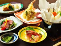【ご夕食一例:ビジネスプラン】お刺身や天ぷらな旬の旨味をご賞味ください