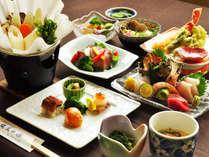 【夕食一例:よねしろプラン】自慢のお料理。旬の旨味を大切にした逸品をぜひご堪能ください。